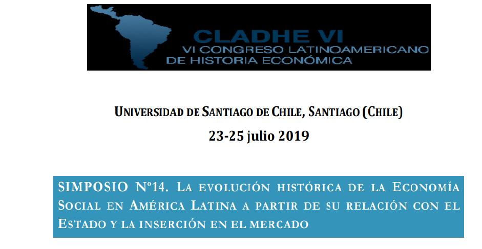 Simposio Nº 14. La evolución histórica de la Economía Social en América Latina a partir de su relación con el estado y la inserción en el mercado